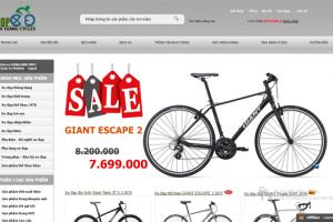Dịch vụ thiết kế website xe đạp