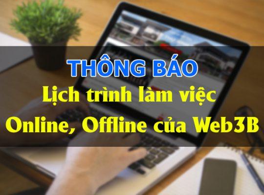 Thông báo 01/10/2021 Web3B làm việc Offline trở lại